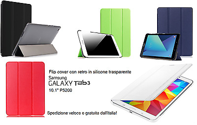 "Flip Cover Custodia a Libro per Samsung Galaxy Tab 3 10.1"" P5200 Smart Case"
