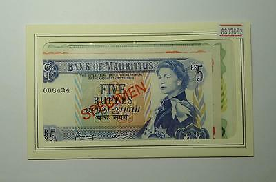 Mauritius  Set of 4 SPECIMEN 5, 10, 25, 50 Rupees Franklin Mint UNC