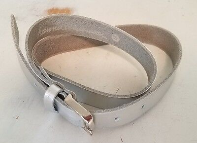 EUC - hanna Andersson, Girls Silver Belt, Silver Buckle, Size Small