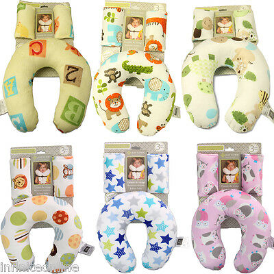 Baby Head Neck Support Protect Headrest Travel Car Seat Safe U Pillow Cushion