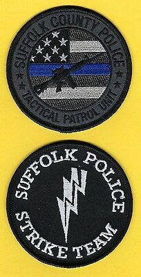 Suffolk County Police Department Tacticalunit/strike Team Patch Set ~ New York