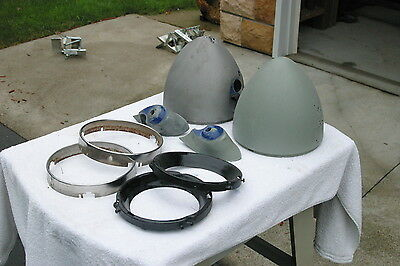 Vintage Original 1937 Chev Pickup Truck Headlight Stands, Buckets And Bezels OBO