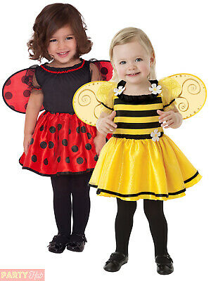 Childs Toddler Ladybird Bumble Bee Costume Girls Ladybug Fancy Dress Outfit