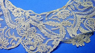 Antique / Vintage Lace On Net Collar-Sewing-Doll Dressing- Arts -Crafts