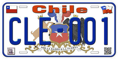 Chile Any Text Personalized Novelty Aluminum Car License Plate