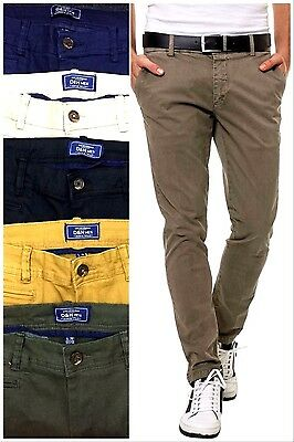 Mens Slim Fit Cotton Rich Chinos D&H Menswear Twills Strechy Summer Trousers