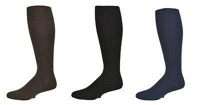 Sierra Socks Men's 3 Pair Pack Classic Dress Over the Calf Cotton Socks M3300