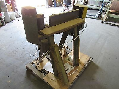 "INDUSTRIAL EDGE SANDER 6""x 80"" W/ GENERAL ELECTRIC MOTOR 2HP ***GOOD***"