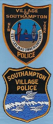 SOUTHAMPTON POLICE DEPT PATCH SET ~ NEW YORK ~ AWESOME COLLECTOR's SET ~ L@@K
