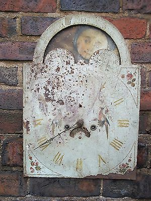 19th century Moonphase Longcase Clock movement and dial 14ins for restoration