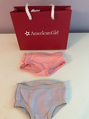 "American Girl Doll 18"" Set Of Two Undies Underwear Panties Pink And Purple"