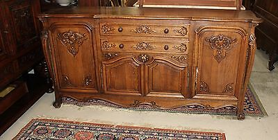 Beautiful Antique French Louis XV Oak Sideboard / Buffet  .