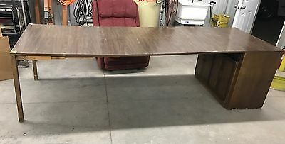 Vintage Saginaw Expanding Buffet Dining Table Mid-century In Cabinet