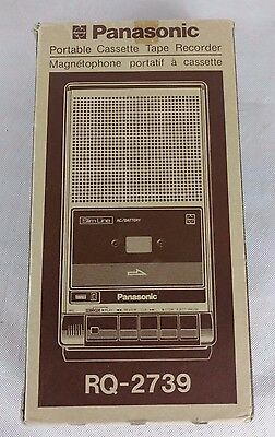 Vintage Panasonic RQ-2739 Portable Cassette Tape Recorder SlimLine AC/Battery