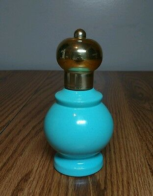 Vintage AVON Bird of Paradise Cologne Spray Bottle - Turquoise Teal & Gold