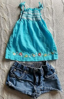 Old Navy Girls Jean Shorts 12-18 Months Carters 12 Month Tank Top