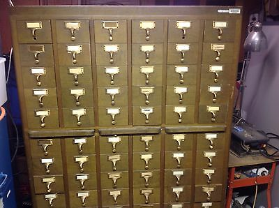 Library Card Catalog Cabinet