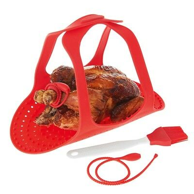 NEW Silicone Roast Turkey Lifter Sling Set 4pc
