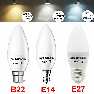 LED 25W 40W Frosted Candle Light Bulb B22 E27 E14 Day Cool Warm White