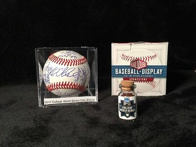2017 College World Series Signed Baseball Cal State Fullerton Team Autographs
