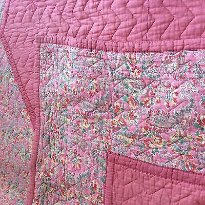 vintage Quilt Cotton. Double sided. Large Single 1 0f 2 listed