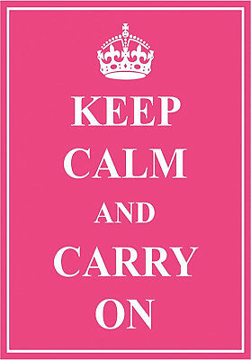 KC06 KEEP CALM AND CARRY ON UNION JACK A4 POSTER PRINT