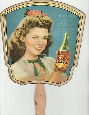 Shirley Temple Royal Crown Cola Advertising Fan