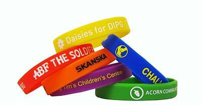 Personalised Rubber Wristbands For Chairty / Fundraising / Events From 14p