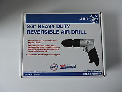 """Jet 3/8"""" Heavy Duty Reversible Air Drill 404419 - Model AD380HDR"""