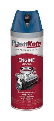 PlastiKote 205 Old Ford Blue Engine Enamel, 12 oz. New HIGH HEAT SPRAY Paint OEM