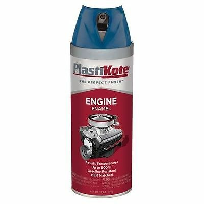 PlastiKote 224 Ford Blue Engine Enamel, 12 oz. New HIGH HEAT SPRAY Paint OEM