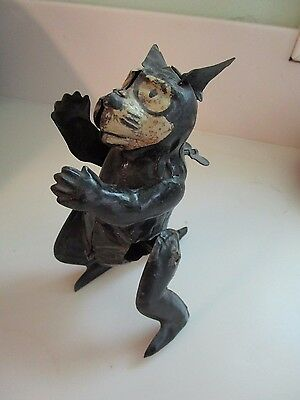 Antique Felix the Cat German tin wind up toy works Gunthermann