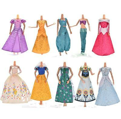 1X Handmake Wedding Gown Dress For Disney Barbies Cinderella Snow White Dolls LJ