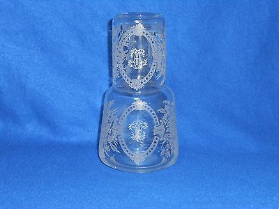 Victorian water carafe with glass