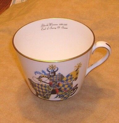 Hammersley & Co. Bone China large cup, Earl, blue, gold, red, white