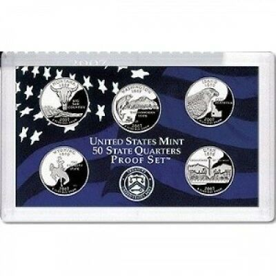 2007-S US Mint Proof State Quarter 5pc. Set With Box/COA. smyrnacoin