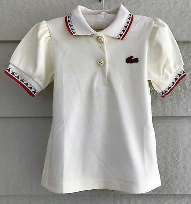 Izod Lacoste girls size 18 mos Ivory polo top - T