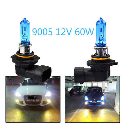 2x 12V 9005 60W Bright White 6000K Quartz Halogen Bulb Car Headlight Lamp Light