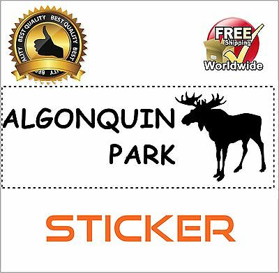 Algonquin Park Sticker Decal Vinyl Decorative 2.5 x 6.5 Inch FAST FREE SHIPPING