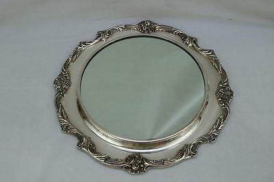 "Vintage Reed & Barton King Francis 15"" Silverplate Plateau Mirror #1666"