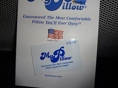 My Pillow $10 Coupon Card No Expiration Date Only One, will mail with std post