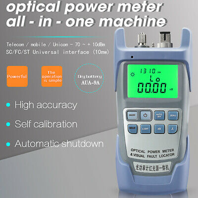 All-IN-ONE Fiber Optic Power Meter -70 to +10dBm and 10km Visual Fault Locator