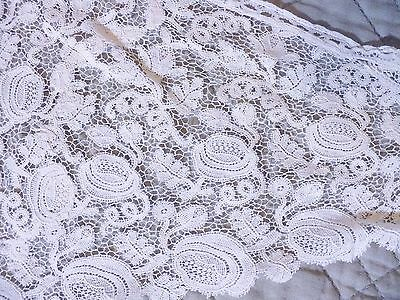 Antique Lace Collar From Vintage Dress – Ivory - Gorgeous Roses Pattern