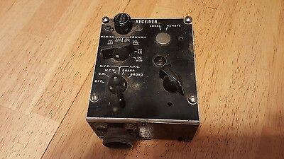 WWII CRV-23256 Navigators control box for ARB receiver - very good condition