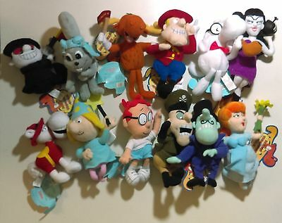 Adventures Of Rocky And Bullwinkle Plush Set Of 12 CVS Dolls