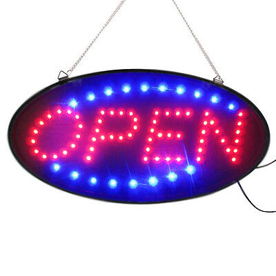 "AU FLASHING LED SIGN ""OPEN"" SIZE 48CM X25CM / with on and off switch AU Stock"