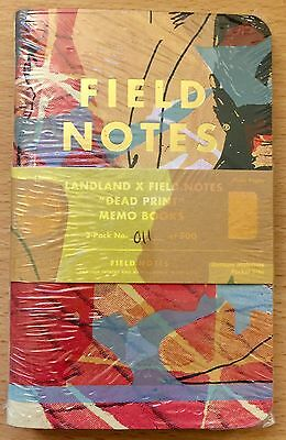 Field Notes LandLand Dead Print Edition #11 Sealed Notebook 3-Pack
