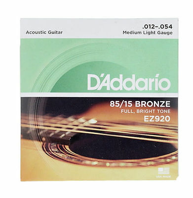 D'ADDARIO Jeu de cordes folk Bronze Medium light 12-54 - EZ920