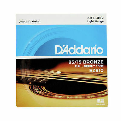 D'ADDARIO Jeu de cordes folk Bronze light 11-52 - EZ910