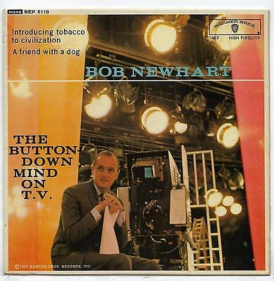 """Bob Newhart - The Button-Down Mind On TV - 7"""" Single"""